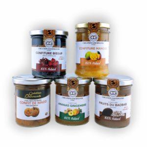 confitures-creation-gourmande-ananas-gingembre-baobab-mangue-bissap-fleur-d-hibiscus-confit-de-madd-240g-site-web-moushenco